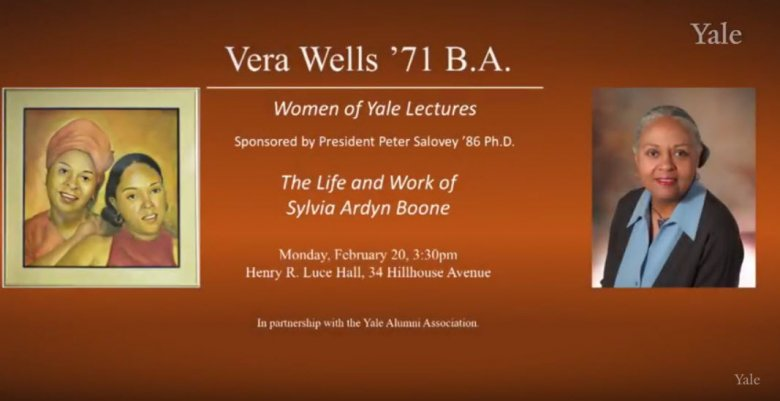 Lecture poster for Vera Wells