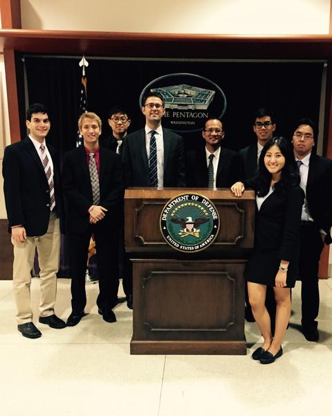 Visiting the United States Department of Defense during a 13-week internship with the US-Asia Institute in Washington, D.C. | Photograph submitted by Dustin Vesey, Yale College Class of 2017 (JE)