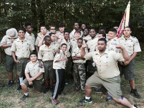 On a camping trip while serving as scout master for New Haven's Boy Scout Troop 4288 | Photograph submitted by Kelly Edwards, senior administrative assistant, Office of the Dean, Yale School of Public Health