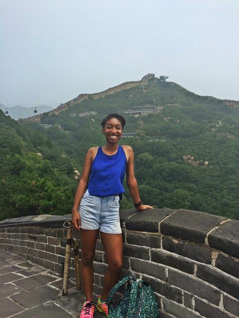 At China's Great Wall, during an IARU Sustainability Fellowship at Peking University in Beijing | Photograph submitted by Paige Curtis, Yale College Class of 2016 (PC)